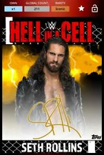 Topps Slam 20 Digital Hell In A Cell Iconic Gold Signature Seth Rollins
