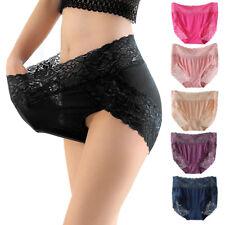 Femmes sans couture dentelle taille haute sous-vêtements dames brève culotte