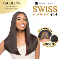 Sensationnel Empress Gold 4x4 Silk BasedLong Straigh Swiss Lace Front Wig Vivica
