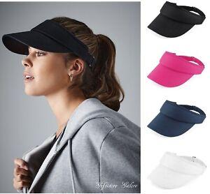 Beechfield Womens SUN VISOR Cap Mens Cotton Sports Golf Tennis Running Vizor Hat