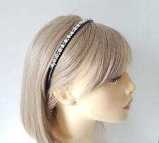Stordimento 8mm Wide Nero Plastica & Ab Diamante-Crystal Cerchietto-Aliceband # 50
