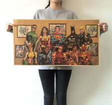 Super Heroes Collection Vintage paper Poster