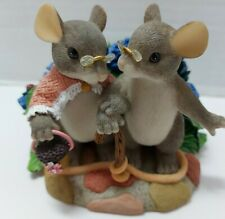 """Charming Tails""""My Love For You Will Never Grow Old"""" (Mouse) [Retired] No Box Euc"""