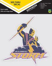 Official Melbourne Storm NRL iTag UV Car See Thru Logo Window Decal Sticker