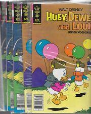 5 Gold Key comics Huey dewey and Louie 56 (3) and 57 (2) VF/NM