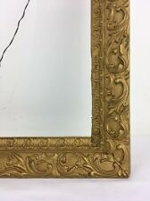 Victorian Fits 18x13 Antique Picture Frame Wood & Gesso Gold Leaves Flowers Bark
