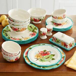 The Pioneer Woman Dinnerware Set, Vintage Bloom, 20 Pieces