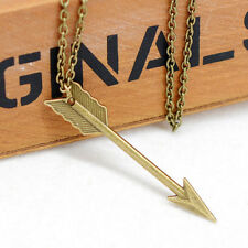 Women Fashion Jewelry Bronze Retro Arrow Head Pendant Long Chain Necklace New