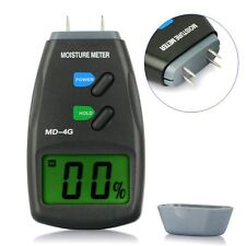 LCD MOISTURE METER 4 PIN HUMIDITY DAMP DETECTOR DETECT WET RAISING MOULD HOUSE