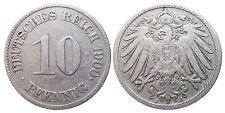 J 13   10 Pfennig Kaiserreich 1900 J in SS+  502783