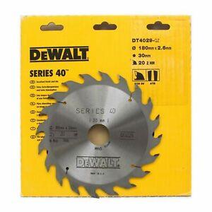Dewalt DT4029 Series 40 180mm x 30mm 20T TCT Circular Saw Blade for Wood & PVC