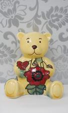 Old Tupton Yellow 5911 Poppy Birthday China Bear Red November Teddy Bear Floral