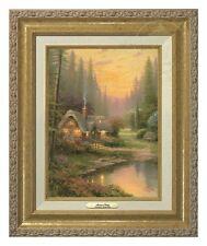 Thomas Kinkade Meadowood Cottage 12 x 9 Canvas Classic (Gold Frame)