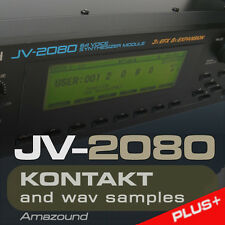 JV2080 & XP80 for KONTAKT 924 nki PATCHES 28 KITS 9069 WAV SAMPLES 24bit MAC PC