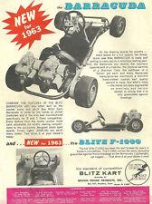 Vintage 1963 Blitz Kart Barracuda Go-Kart Ad