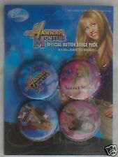 HANNAH MONTANA secret star BUTTON BADGE PACK - SET OF 4 miley cyrus