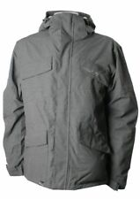 QUIKSILVER MEN'S DOUBLE DAFFY SNOW JACKET - Medium - PEWTER - NWT