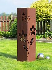 4 Eck Säule Rostsäule Blume Säule Edelrostsäule  Gartendeko Stele Rost Deko