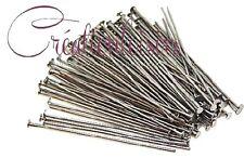 50 Clous / Tiges à tête plate - Long. 45 mm - Couleur argenté mat