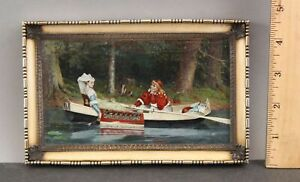 19thC Antique Signed French Sterling Frame Miniature Painting aft. P H Calderon