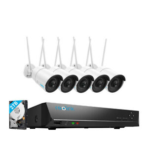 Reolink 8CH Wireless Camera 4MP Outdoor Indoor WIFI CCTV Security System HD NVR