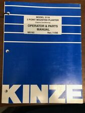 Kinze Model 3110 3 Point Mounted Planter Operator and Parts Manual 11/06