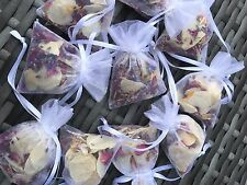 50 x Wedding Petal Confetti Bags. Dried & Biodegradable. Real Flower Decoration