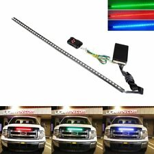 "24"" 7-Color RGB LED Knight Rider Strip Light For Under Hood Behind Grille"