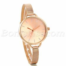 Women's Stainless Steel Thin Mesh Band Analog Quartz Dress Charm Wrist Watches
