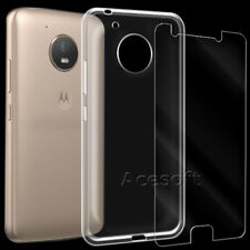 Tempered Glass Screen Protector Soft TPU Case f Motorola Moto E4 XT176