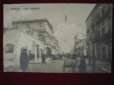 BRINDISI Corso Garibaldi animata carrozze viaggiata 1911 #284