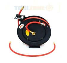 "WALL MOUNT 3/8"" 50ft AUTO REWIND RETRACTABLE AIR TOOL GARAGE HOSE LINE REEL"
