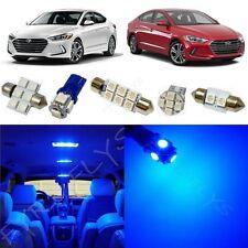 8x Blue LED light interior package kit for 2017 & Up  Hyundai Elantra YE3B