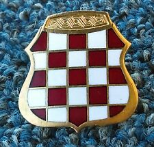 HVO - Croatian Republic of Herzeg-Bosnia,  WAR TIME SOLDIER CAP BADGE FROM 1990s