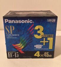 VHS C - PANASONIC EC-45 - SUPER PREMIUM COMPACT VIDEO CASSETTE - 4 X BRAND NEW