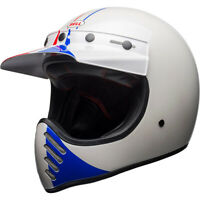 Bell Moto-3 Retro Full Face Motorcycle Helmet Gloss Ace GP 66 White/Red Small