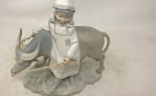 "Lladro, ""Girl from Manchuria with Ox"" Sculpture ""Nina de Manchuria"", #1182"