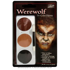 A860 Mehron Tri-Colour Werewolf Wolf Makeup Palette Professional Costume Make Up
