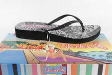 Skechers Toe Thong Mules 37904 Black New