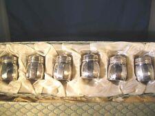 Set of 6 In BOXVintage V.L. Vincent Lollo Sterling Silver Salt & Pepper Shakers