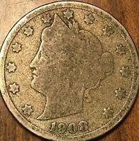 1908 USA 5 CENTS LIBERTY