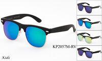 Kids Vintage Sunglasses Retro 100% UV Colorful Mirror Lens Toddler Boys Girls