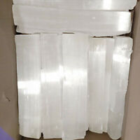 "Natural Selenite Crystal Sticks "" 10 Lb LOT Rough Wands XL Logs Bar BULK Wholesa"