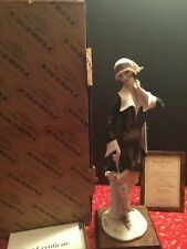 Armani Florence Italy Porcelain Sculpted Lady with Umbrella SIGNED w/ COA & MIB