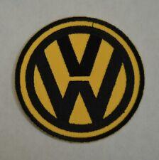 patch VW , 9cm , jaune et noir, broder et thermocollant
