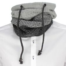 No Excess Knitted Scarf Loop Knitted Black Gray Melange 82950915 023