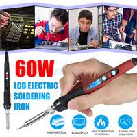 60W Digital LCD Adjustable Temperature Electric Soldering Iron Welding