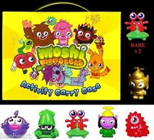 MOSHI MONSTERS Series 6..... inc,RARE FIGURES & CARRY CASE*