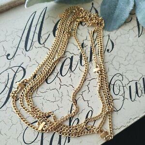 """Vintage Monet Gold Tone Chain Necklace 54""""L"""