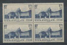 FRANCE - Bloc de 4 N°379, 1f.75+75c. bleu NEUF LUXE ** COTE 180€ P1530
